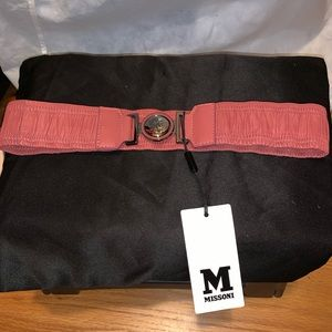 Missoni Ruched Leather Stretch Belt - NEW